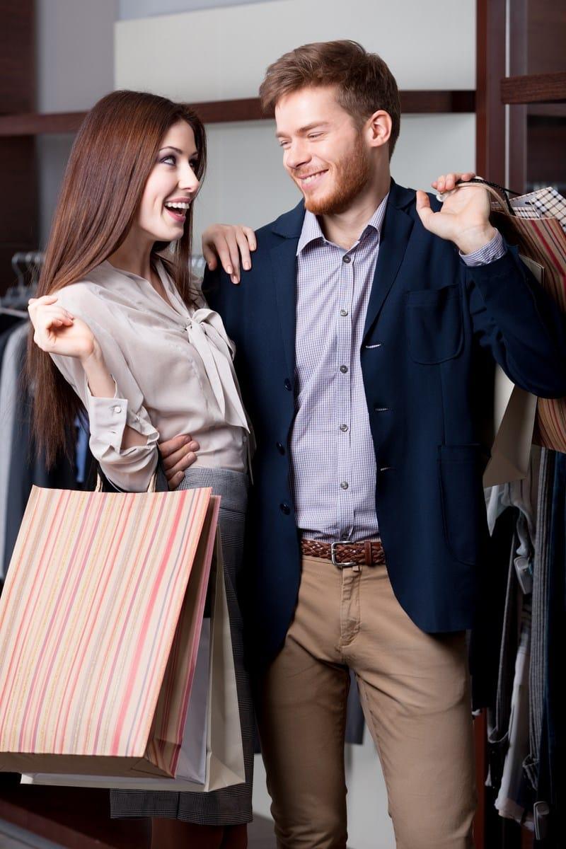 J'aime faire les boutiques avec mon chéri